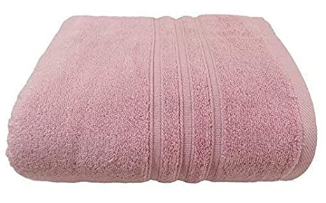 Hotel hospitalidad rosa rayas suave zero twist 100% algodón 600G/m² toalla de baño