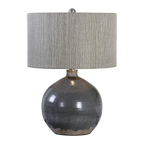(Uttermost Vardenis Gray Ceramic Lamp)