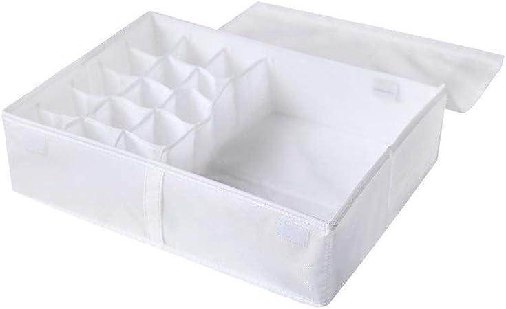 Big belly - storage CSQ Caja de Almacenamiento de Tela, guardarropa Dormitorio Dormitorio Caja de Almacenamiento Libros de papelería calcetín Velcro Plegable Caja y Cesta (Color : White): Amazon.es: Hogar