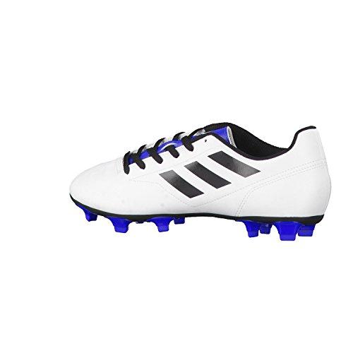 adidas Herren Fussballschuhe Conquisto II FG Ftwr White/Core Black/Blue 42 2/3