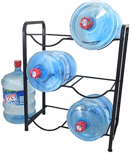 Future BuyZ Stainless Steel 5 Gallon Water Bottle Glass Plastic Jug Rack Holder Storage Shelf Garage Kitchen Stand Heavy Duty Super Light Versatile Portable Space Saver Only 9.7 LBS Holds 400+ LBS (5 Gallon Water Bottle Rack)