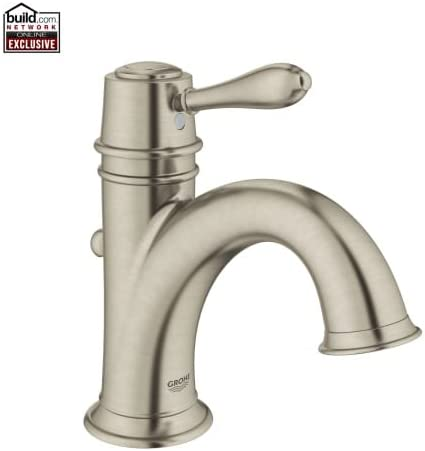 Grohe 23 399 Fairborn Single Hole Bathroom Faucet with SilkMove – Free Metal Po, Brushed Nickel