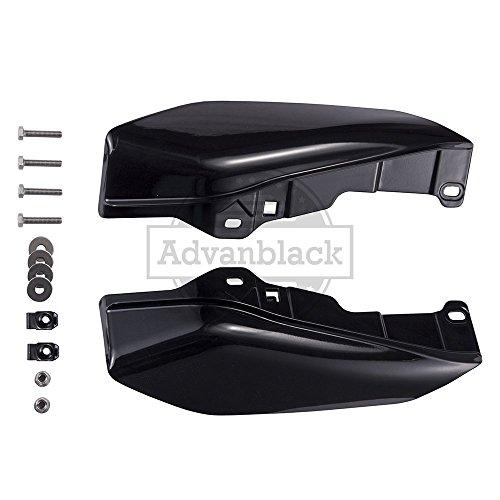 Vivid/Glossy Black Mid-Frame Air Deflectors Heat Shield For 2009-2016 Harley Street Glide Road Glide Electra Glide Road King Ultra Classic