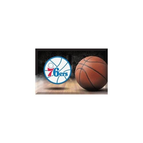 FANMATS 19108 Team Color 19'' x 30'' Philadelphia 76ers Scraper Mat (NBA Ball) by Fanmats