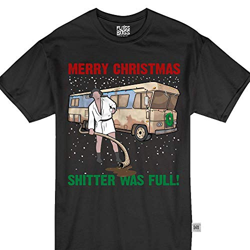 The Shitter was Full Merry Christmas RV Camper Funny T-Shirt