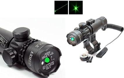 Green Dot Laser Sight Rifle Scope Switch Picatinny Rail Barrel Mounts Free Ship