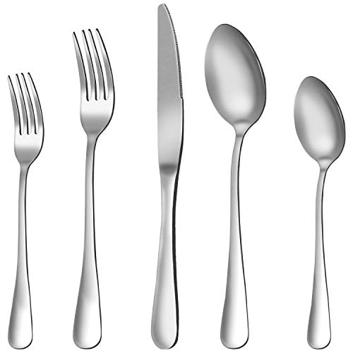 Silverware Set, 20-Pieces Flatware Set Stainless Steel Cutlery Set Service for 4,Include Knife/Fork/Spoon,Mirror Polished