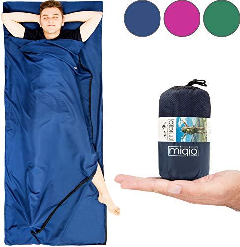 41iG7o3gFCL Miqio® 2in1 Hüttenschlafsack mit durchgängigem Reißverschluss (Links oder rechts): Leichter Komfort Reiseschlafsack und…