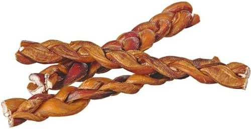 "Dog Treats: Pawstruck 9"" Braided Bully Sticks"