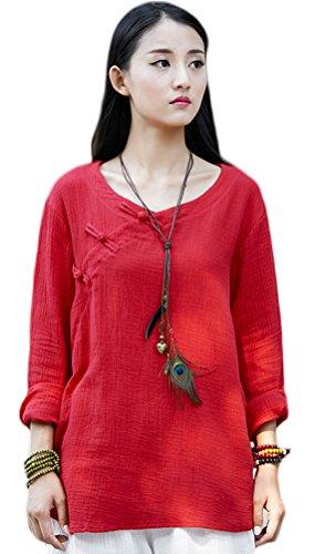 Soojun Womens Vintage Chinese Blouses