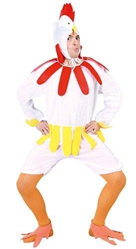 Mens 6 Piece Ladies Chicken Turkey Christmas Thanksgiving Festival Fancy Dress Costume Outfit (Medium)