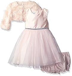 Pippa & Julie Baby Girls\' Tutu Party Dress with Jacket, Pink, 0/3M