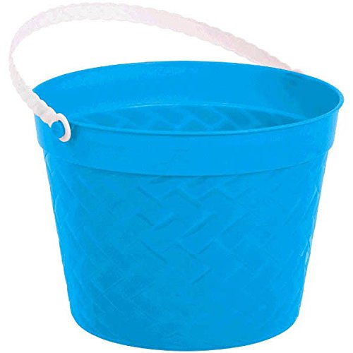 Egg-stra Special Easter Party Weave Design Bucket Favour, Blue, Plastic, 6