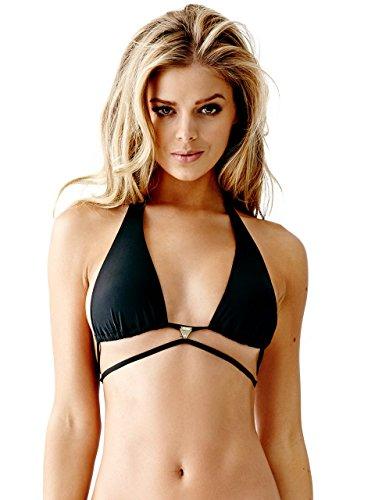 GUESS Wrap Waist Logo Plaque Bikini Top