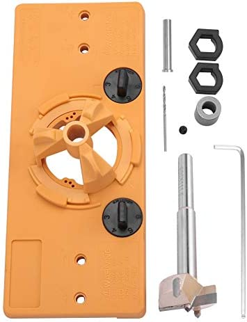 35MMヒンジボーリングジグドリルガイドセットドア取り付け穴ロケーター用木工