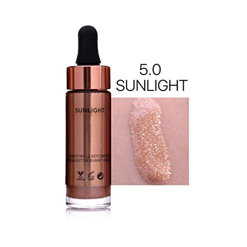 Hunputa Liquid Highlighter Make Up Highlighter Cream Concealer Metallic Shimmer Face Glow Ultra-concentrated Illuminating Bronzing (E) Bronzing Bronzer