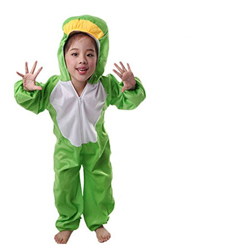 Children Animals Costume Cartoon Jumpsuit (7-8 Years, Frog)