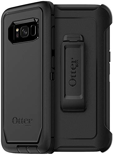OtterBox Defender Series Case & Belt Clip Holster for Samsung Galaxy S8 (NOT Plus) - Non-Retail Packaging - Black