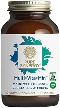 Pure Synergy Multi Vitamin (60 Tablets) 2 A Day Multivitamin Made w/Organic Fruits & Veggies