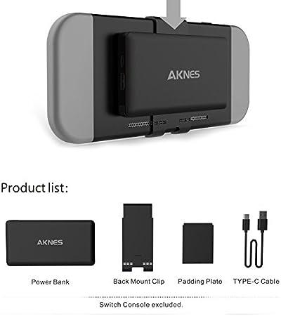 Zantec - Cargador portátil extraíble de 10000 mAh para batería externa para Nintendo Switch, negro: Amazon.es: Hogar
