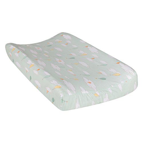 Trend Lab Dr. Seuss Oh The Places You'll Go! Balloons Changing Pad Cover, Orange/Yellow/Green and White