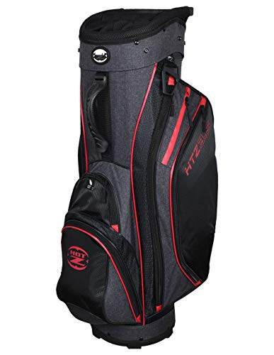 Hot-Z Designer Series 3.5 Cart Bag Black/Red/Grey