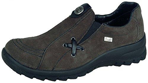 Rieker L7171 Womens Dark gray Leather Loafers 40 EU (8.5 US Women) by Rieker