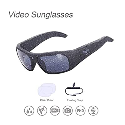 Waterproof Video Sunglasses,Xtreme Sporting 1080P Ultra HD Video Recording Camera and Polarized UV400 Protection Safety Lenses