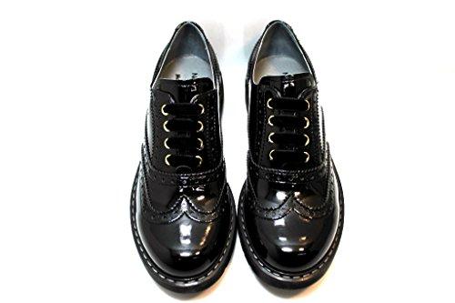 Nero Giardini Junior - Zapatos de cordones de Piel para mujer negro