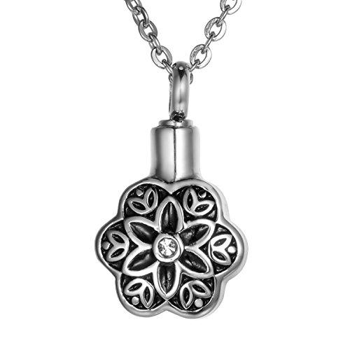 Valyria Memorial Flower Petal Cremation Pendant Keepsake Urns Necklace