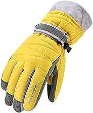 Gogokids Kids Winter Ski Gloves - Snow Warm Gloves Waterproof Windproof Fleece Lined Snowboarding Glove for Me
