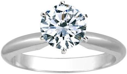 Near 1/2 Carat Round Cut Diamond Solitaire Engagement Ring Platinum 6 Prong (K, SI2-I1, 0.45 c.t.w) Very Good Cut 41iGETtmvqL