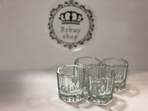 Bzbuy 4 Nail Art Acrylic Liquid Powder Dappen Dish Glass Crystal Cup Glassware Tools