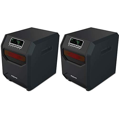 Lifesmart 4-Element Quartz Infrared Portable Electric Room Heaters (2 Pack)
