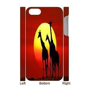 Giraffa camelopardalis Wholesale DIY 3D Cell Phone Case Cover for iPhone 4,4S, Giraffa camelopardalis iPhone 4,4S 3D Phone Case