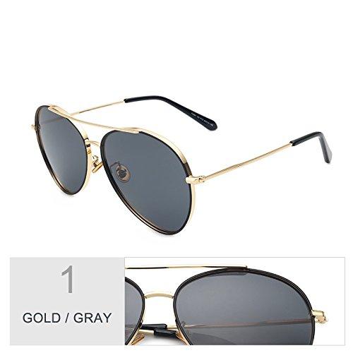 Vintage mujer sol gafas GOLD de morado para de conducción sol de mujer GRAY Sunglasses de coloridas gafas hombre polarizadas gafas aviador TL sol negro gafas aFw5zqT