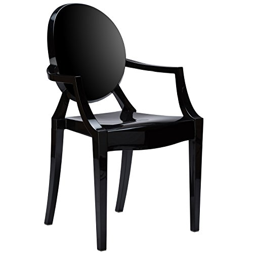 Poly and Bark Burton Arm Chair In Black (Louis Side Chair)