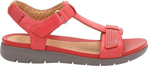 Clarks Kvinna Un Haywood T Rem Sandal Rött Läder