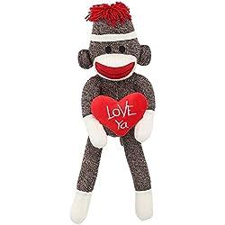 Love Ya Sock Monkey Plush: Classic Styled Collectible Doll