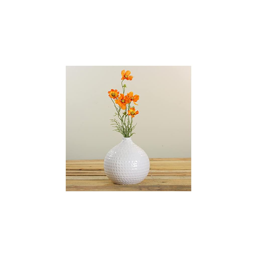 28-Orange-and-Yellow-Artificial-Cosmos-Inspired-Floral-Spray