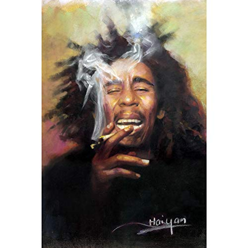 Bob Marley 3D Poster Wall Art Decor Print | 11.8 x 15.7 | Lenticular Posters & Pictures | Memorabilia Gifts for Guys & Girls Bedroom | Trippy Rasta Reggae Legend Album & One Love Smoking Picture