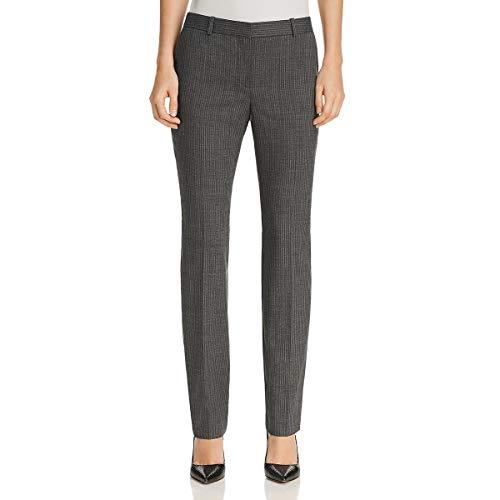 (BOSS Hugo Boss Womens Titana Wool Pinstriped Dress Pants Gray 4)