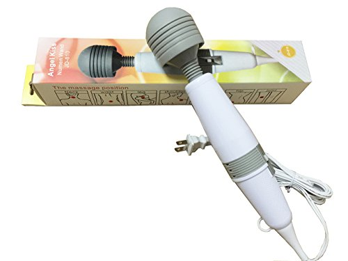 Angel Kiss Magic Massager Wand - 2 Speed Vibrations Patterns Personal Original Electric Massager Handheld (White -JD810)