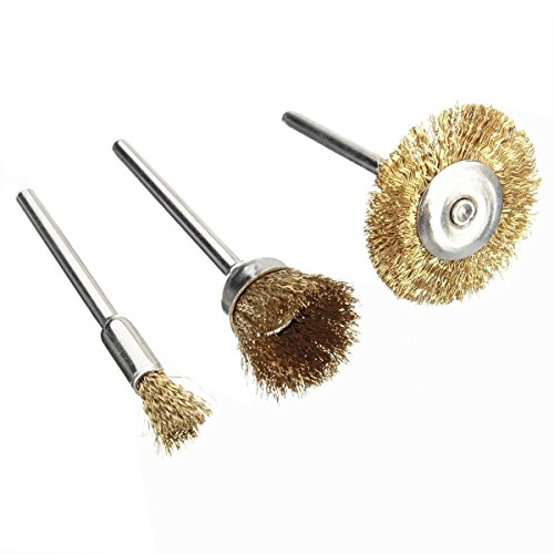 Drill Warehouse 36Pcs Brass Steel Wire Brush Polishing Wheels Full kit for Dremel Rotary Tools by Drill Warehouse (Image #1)