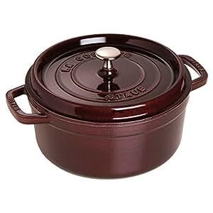Staub Aubergine Round Cast Iron Cocotte, 2.75 Quart