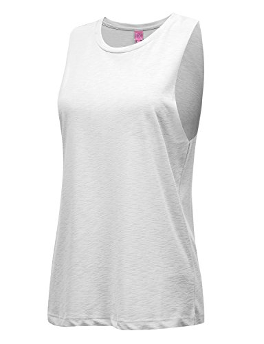 Classic Halter Halter Top (REGNA X NO BOTHER Women's Sleeveless Scoop neck Sexy Halter Classic Tunic Tank Tops White L)