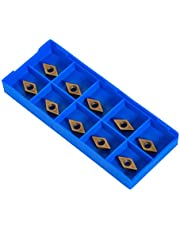 10pcs Diamond Shape CNC Carbide Insert Cutter Indexable Lathe Milling Inserts Turning Tools with Box DCMT070204-HM YBC251 for Semisteel