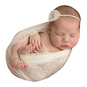 Newborn Baby Photography Props,Kshion Baby Girl Boy Hollow Wraps Blanket Posing Swaddle Cover