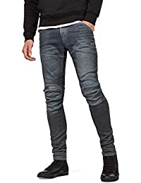 Men's 5620 Knee Zip Superslim Jeans in Loomer Grey Superstretch