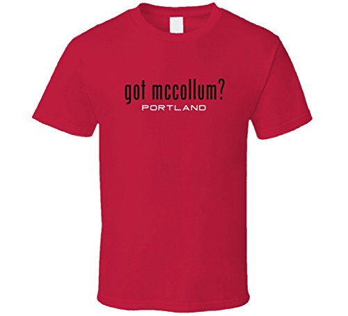 Got C.J. McCollum Player Parody Portland Basketball T Shirt L Red